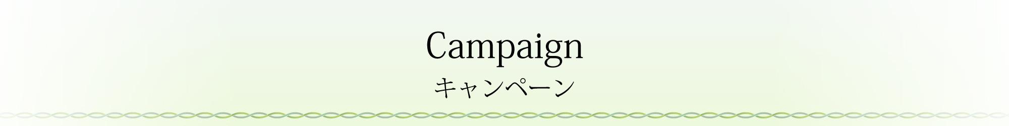 Campaign キャンペーン
